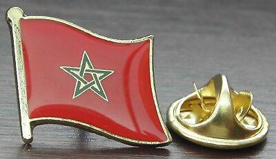 Morocco Moroccan Country Flag Lapel Hat Cap Tie Pin Badge Brooch