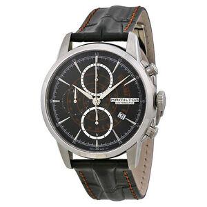 New hamilton american classic black dial chronograph mens for New american classic