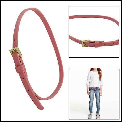 Audace Similpelle Sottile Elegante Rosa Chiaro Ragazze Regolabile Cintura Metallo