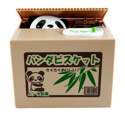 Itazura Coin Bank Cute Panda Stealing Money Piggy Bank - Panda