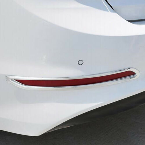 For Hyundai Elantra Avante 2016-2018 Chrome Rear Tail Fog Light Lamp Cover Trim