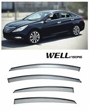 JDM Vent Visors 4pcs Wind Deflector For Hyundai Sonata 11-14 2011-2014 All Model
