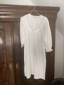 Damen Nachthemd, Chamor, Gr. 44, weiß, Langarm, mit Spitze ...