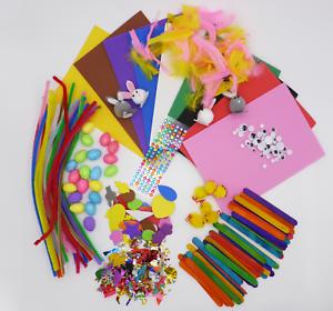 HAPPY EASTER Foam Set CREAVVEE Giant Box Colorful Kids Arts /& Craft Materials