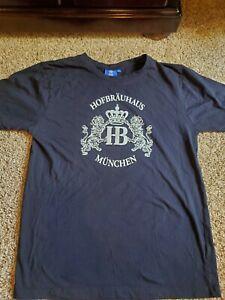 Hofbrauhaus Munchen Beer Oktoberfest German Munich Black T-Shirt Mens Large