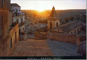CARTOLINA-SICILIA-POSTCARD-SICILY-RAGUSA-VEDUTA-PANORAMICA-SU-IBLA-ALL-039-ALBA
