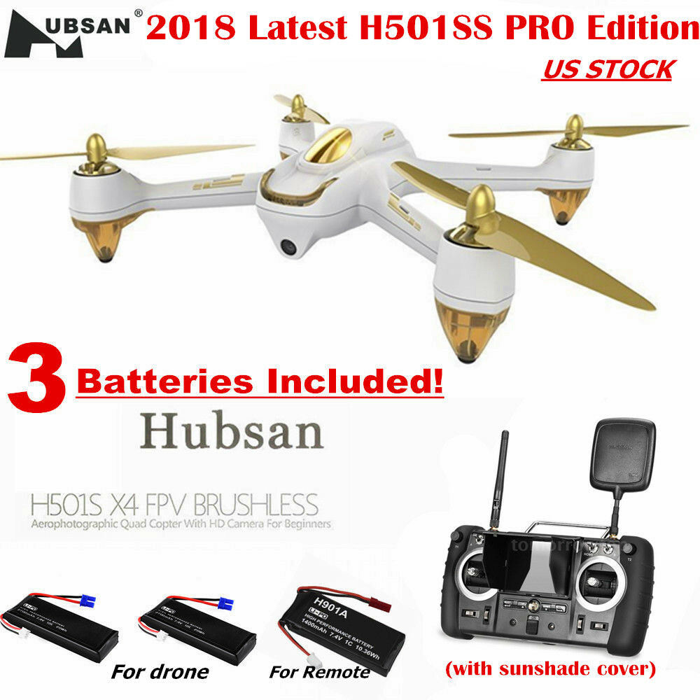 Hubsan H501S X4 Radio Control FPV Quadcopter 1080P Drone siga Brushles GPS Pro Edition Me