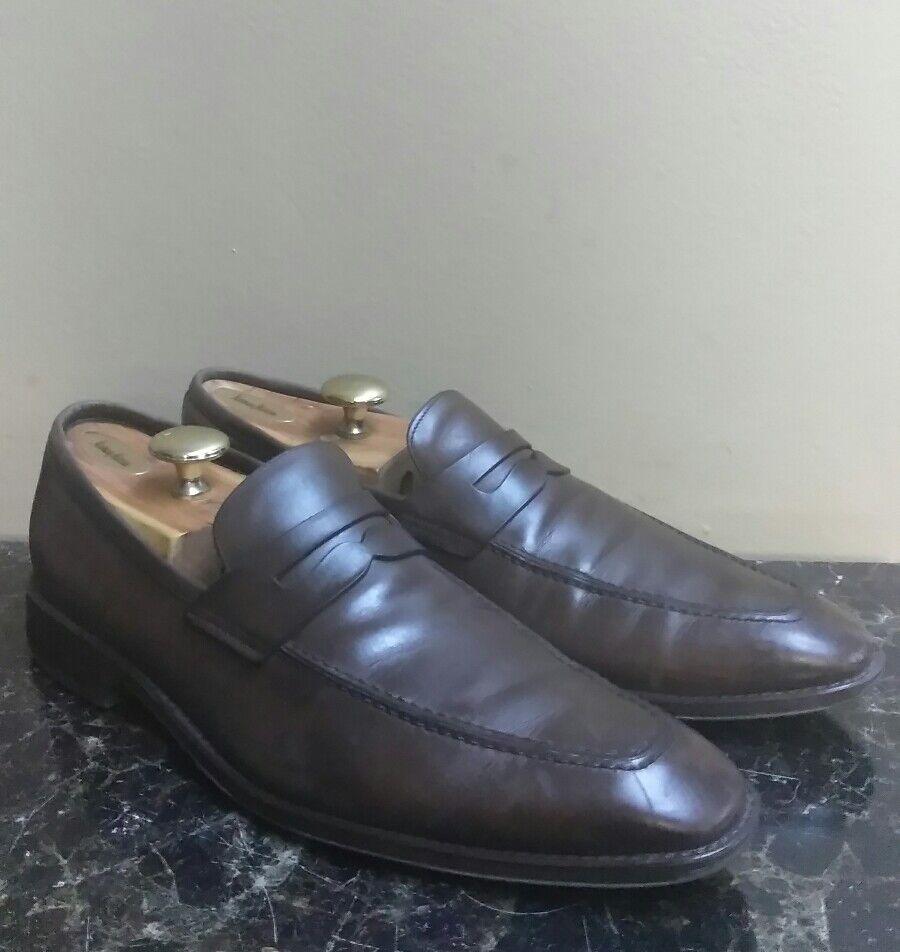 Dark braun BALLY of SWITZERLAND BADIN Leather Penny Loafers 9 ITALY