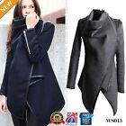 Inverno Donne Casual Cappotto Lungo Caldo Slim Colletto Giacche Maglia WS013