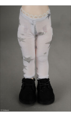 1//6 BJD YOSD USD   Dear Doll Size Dollmore Siver Star leggings White