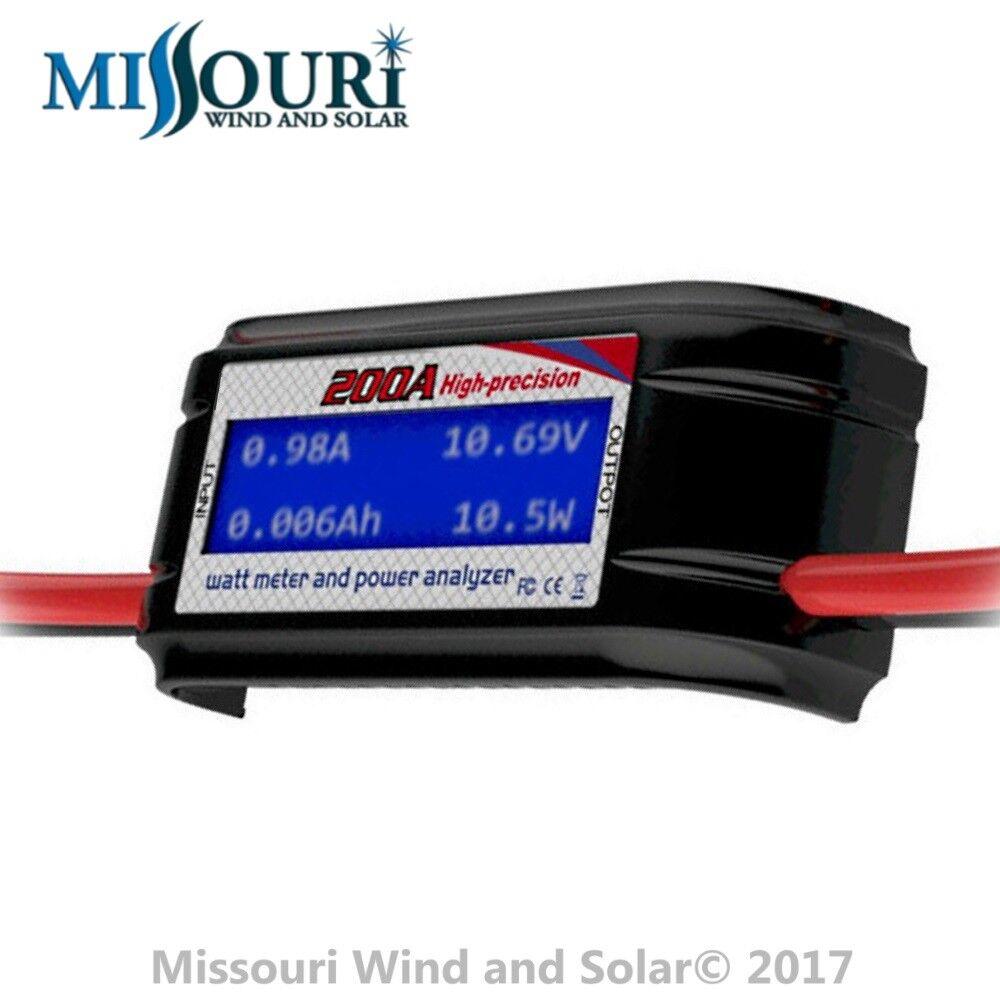 200A Watt Meter High Precision Power Analyzer for Solar Panels or Wind Turbines