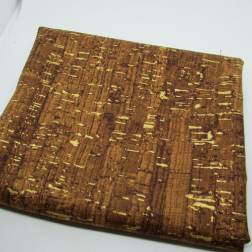 CORK EFFECT FABRIC with METALLIC ACCENT UNCORKED 100/% cotton fabric Windham