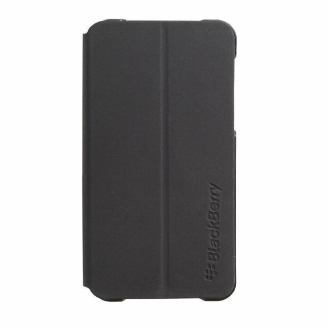 Genuine Black Flip Cover for BlackBerry Z10 Folio Fitted Smart Case