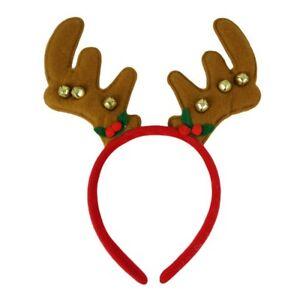 Christmas-Felt-Reindeer-Antler-Jingle-Bells-Alice-Hair-Band-Headband-Accessories
