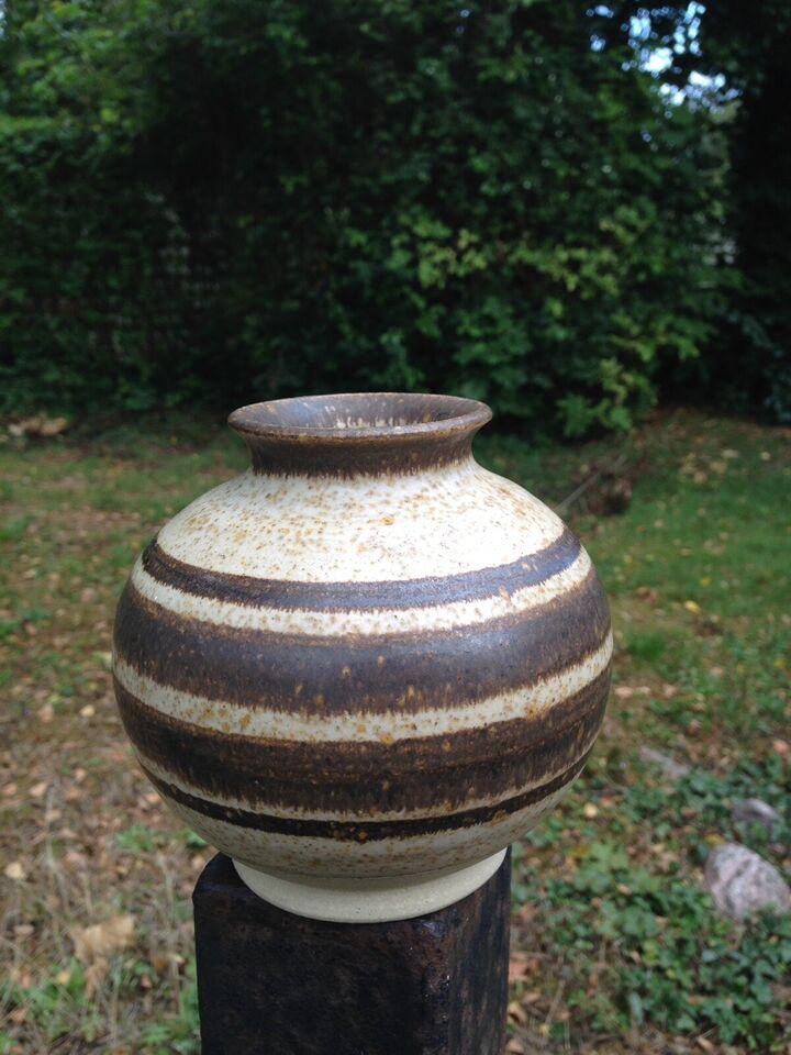 Smuk tidløs Per Engstrøm keramik vase, Per Engstrøm