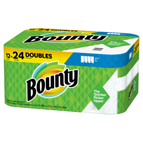 Double Rolls 2 PACKS Bounty Select-A-Size Paper Towels 24 ROLLS=48 IN STOCK
