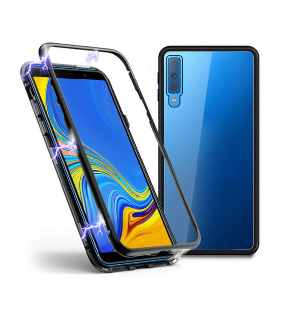 best service 8a55e 77646 SDTEK Magnetic Case for Samsung Galaxy A7 (2018) Glass Back Cover