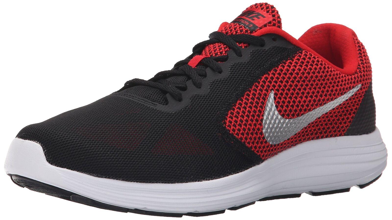 NIKE Running Men's Revolution 3 Running NIKE Shoe University Red/Black/White/Metallic Silver 7defbd