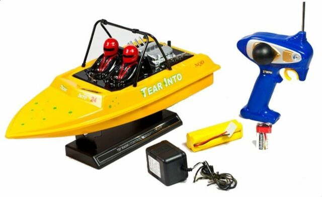 fcb55e2c Newqida NQD Water Jet Powered RC Radio Control Boat With 390 Motor 757-6024