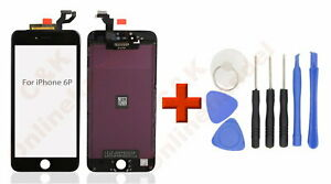 Display-fuer-iPhone-6-Plus-Retina-LCD-Glas-Scheibe-Bildschirm-Front-schwarz-Black