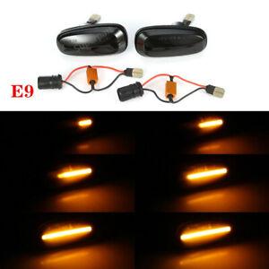 1-Paar-Schwarz-Smoke-LED-Seitenblinker-Blinker-Rauchglas-Fuer-Opel-Astra-G-Zafira
