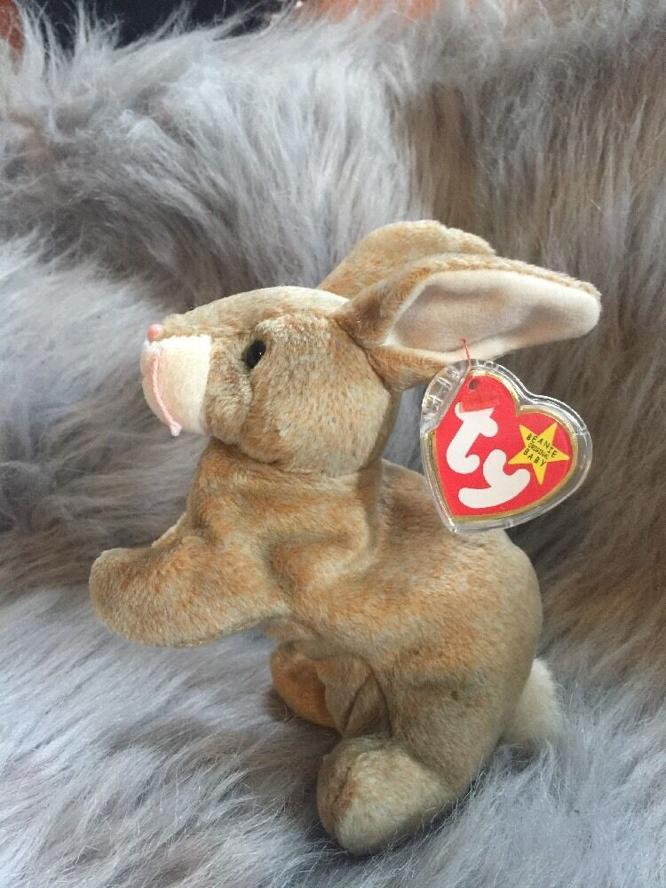 Nibbly the Rabbit Ty Beanie Baby Rare 4 ERRORS Tags and tag predector May 7 1998