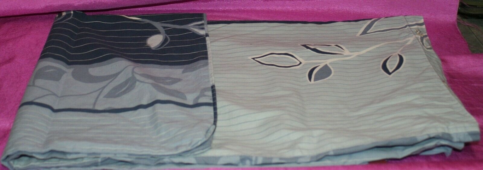Bettwäsche (Bettbezug und Kopfkissenbezug ) blau gemustert