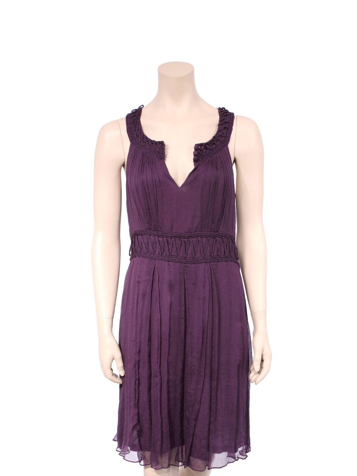 CYNTHIA STEFFE Silk Silk Silk Crochet Detail Dress (SIZE L) 692399