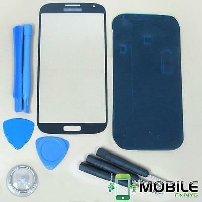 Black Front Outer Screen Glass Replacement Lens For Samsung Galaxy S4 i9500