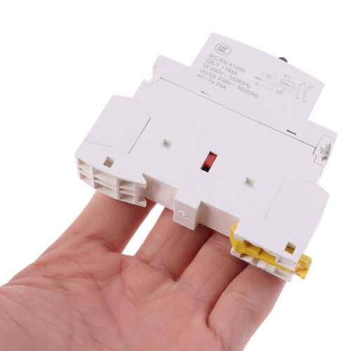 25A 2P 220V Din rail Household ac contactor With Manual Control Switch JE EHJO