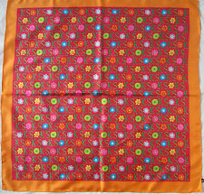 -Superbe Foulard KEN SCOTT  100% soie  TBEG  vintage scarf