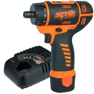 SP Tools Cordless 12V Mini Two Speed Screwdriver w/ Battery & Charger SP81210
