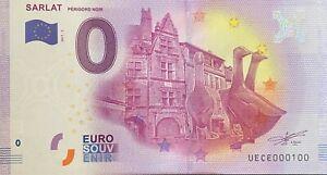 BILLET-0-EURO-SARLAT-PERIGORD-NOIR-FRANCE-2017-NUMERO-100