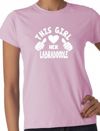 This Girl Loves Her Labradoodle Dog Pet Ladies Gift T-shirt Size S-XXL
