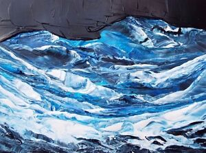 STORM-AT-SEA-Acrylic-Ocean-Painting-9-034-x12-034-Seascape-Julia-Garcia-OOAK-Art
