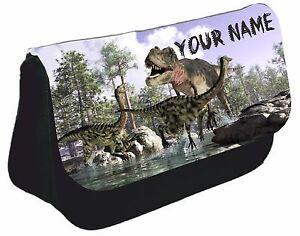 Personalised-Dinosaur-Dino-T-Rex-Pencil-Case-School-Birthday-Gift-Boys-Girls