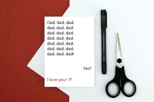 toddler cute dad card funny love card for dad Dad Valentine/'s Day card