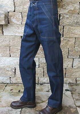 Quartiermastro Denim 40s Anni Stile Donne 1944 Rockabilly Us Army Pantaloni