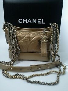 8c8f33caac Image is loading Chanel-2017-Aged-Calfskin-Quilted-Gabrielle-Hobo-Bag-
