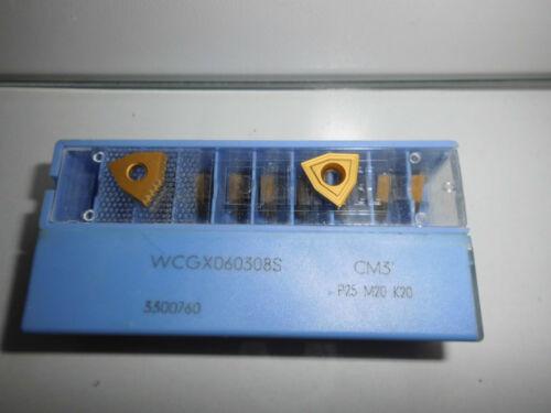 10.Stk Hertel Wendeplatten WCGX060308S CM3 Wendeschneidplatten ***Neu***