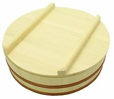Japanese Wooden Mixing Bowl Sushi Oke Rice Tub 27cm 11 inch Dia w/Lid Tachibana