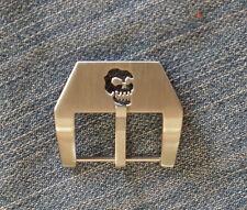24mm Uhren-Schließe Buckle Totenkopf Skull Neu perfekt für Vintage Straps