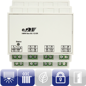 HomeMatic-85840-Wired-RS485-Schliesserkontakt-12-Eingaenge-HMW-Sen-SC-12-DR