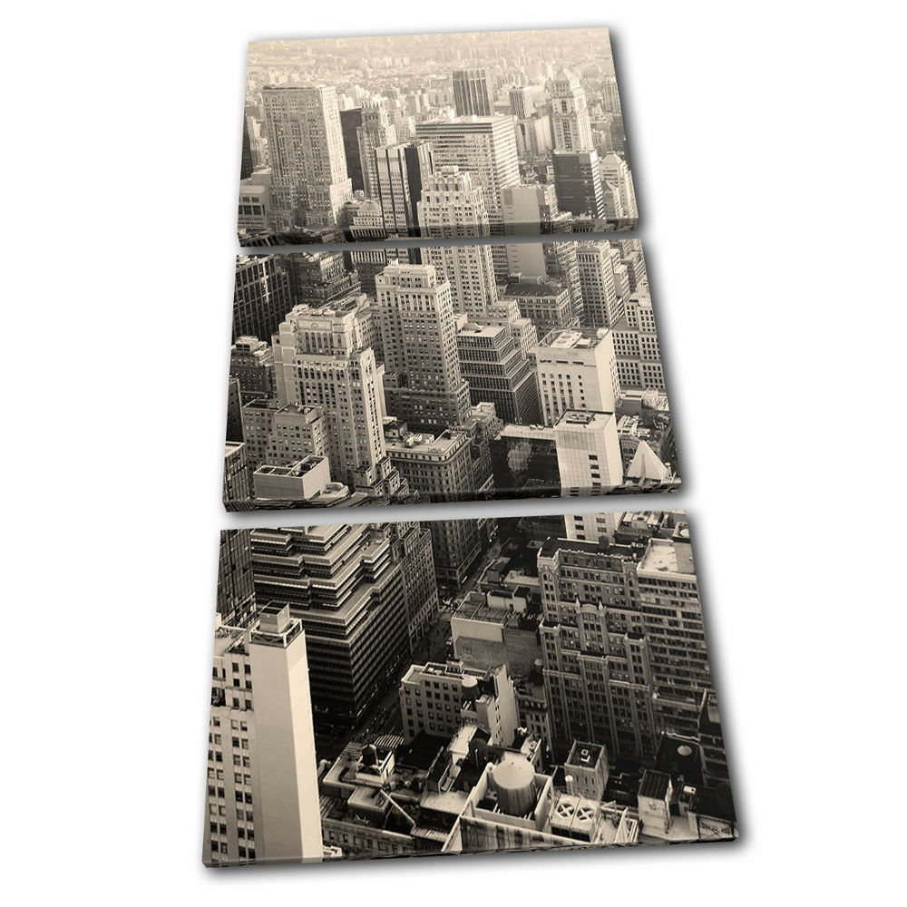 New York TREBLE Skyline Sepia City TREBLE York LONA pared arte Foto impresion 3b98d0