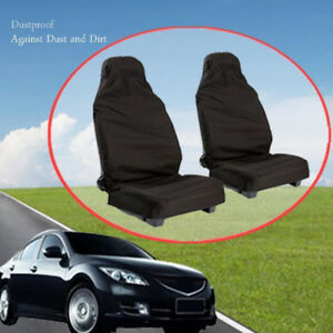 Washable Seat Covers Black Car Front Seat Protectors Water Sweat Dirt Dust Proof