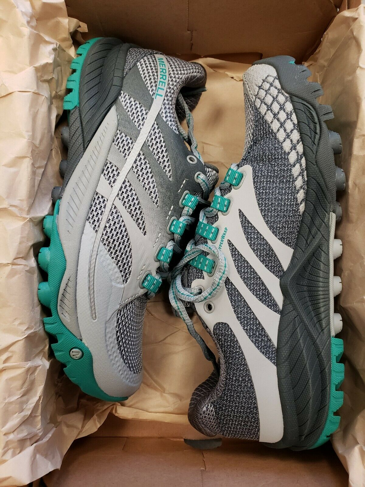 Merrell All Out Charge Donna   Dimensione    5M  colore  Light grigio   verde  RETURNED  571735