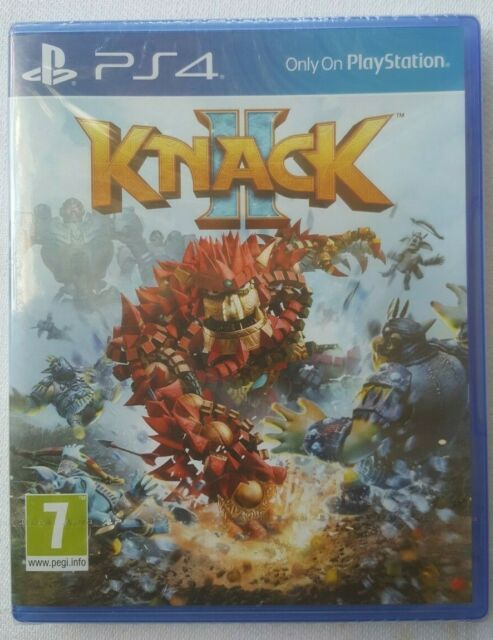 Knack II (2) Video Game for Sony PlayStation 4 PS4 Pegi 7 New Unopened