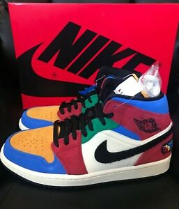 Blue The Great X Nike Air Jordan 1 Mid Se Fearless Multi Color 8
