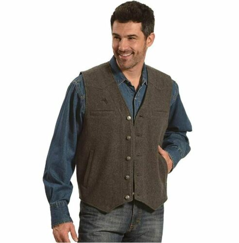 Wyoming Traders Men/'s Wyoming Charcoal Wool Vest WVCL