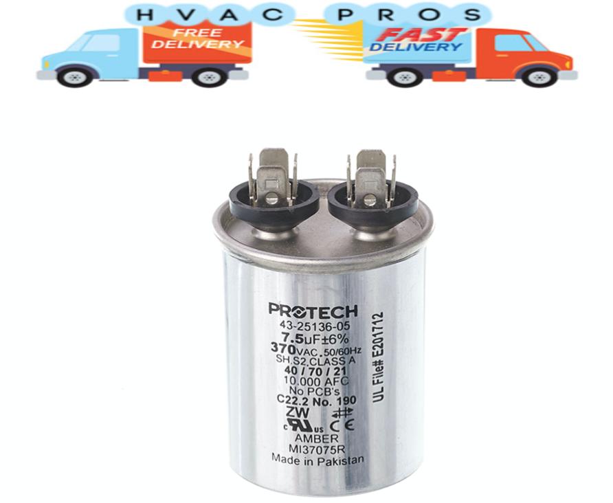 OEM Rheem Ruud Protech Rd Run Capacitor 20 uf 370 Volt 43-100509-18 43-101666-57